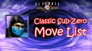 UMK3 - Classic Sub-Zero Move List