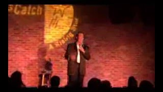 Comedian Manny Oliveira performing at 'Catch a Rising Star' in Lincoln, Rhode Is