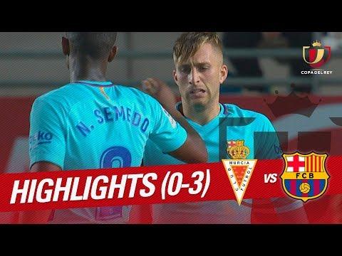 Resumen Real Murcia vs FC Barcelona (0-3)