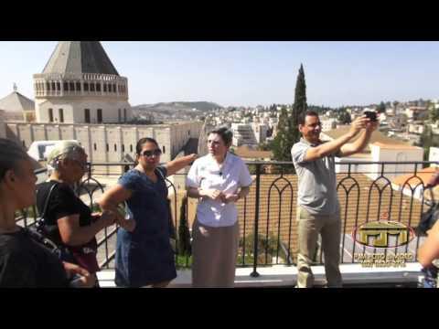 Casa onde Jesus morou com Maria e José em Nazaré  Israel