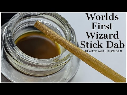 Worlds First Wizard Stick Dab | THCA Rosin | No Dabber Required