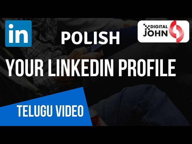 How to Polish Your LinkedIn profile || Digital Badi