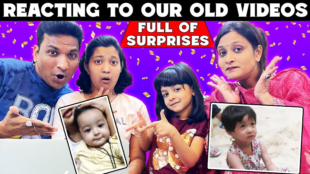 Reacting To Our Old Videos - Full of Surprises | Lifestyle | Cute Sisters