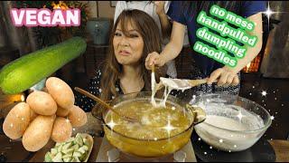 HAND-PULLED DOUGH SOUP Cook & Mukbang (비건 수제비 *vegan sujebi)
