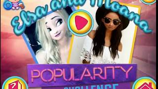 ELZA and Moana  POPULARITY CHALLENGE Cartoon Online game