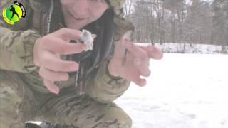 Тест работы самодельной мормышки кошачий глаз во время рыбалки на окуня