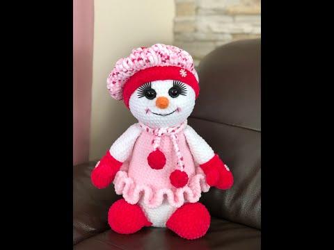 Снеговик крючком марины борисовой