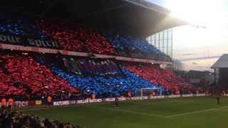 Holmesdale Fanatics tifo before Manchester United #cpfc