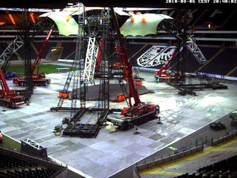 U2 Frankfurt stage build progress webcam 1