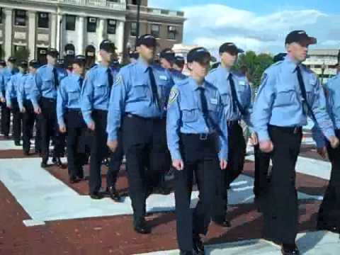 Members of the R.I. Police Academy assist in checking State