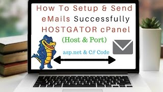 cPanel Hostgator SMTP eMail Setup & Send Successfully (c# asp.net)