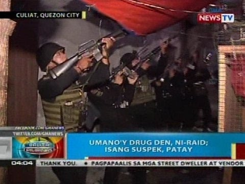 Umano'y drug den sa Quezon City, ni-raid; isang suspek, patay