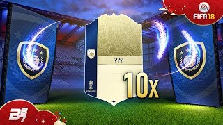 10X GUARANTEED WORLD CUP ICON PACKS! INSANE ICON SQUAD BUILDING CHALLENGE! | FIFA 18 WORLD CUP