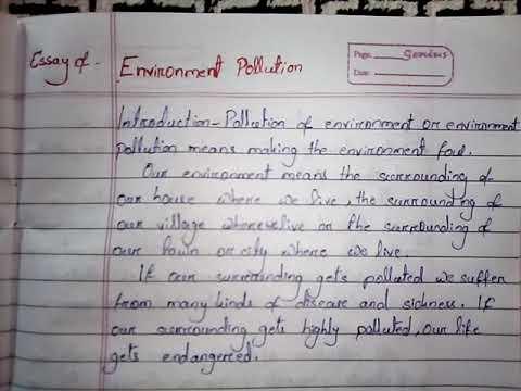 Environment pollution essay