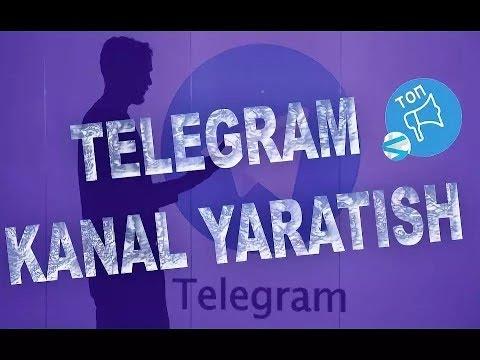 Telegramda kanal ochish