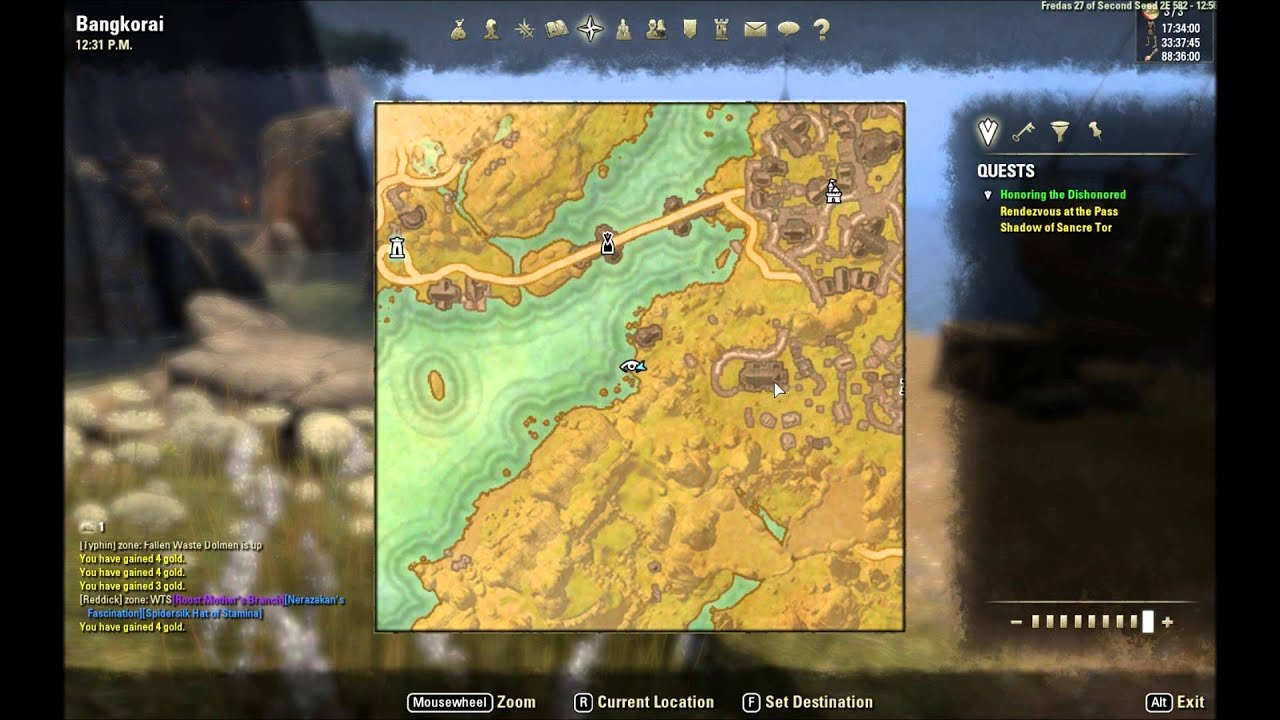 ESO: Bangkorai Treasure Map IV Location - YouTube