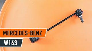 Kaip pakeisti Galinė stabilizatoriaus traukė MERCEDES-BENZ M W163 [PAMOKA]