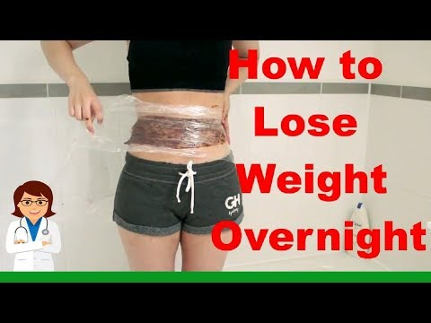 How To Lose Weight OVERNIGHT FAST - DIY Body Wrap