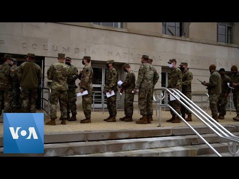 National Guard Troops Arrive in DC Prior to Biden Inauguration