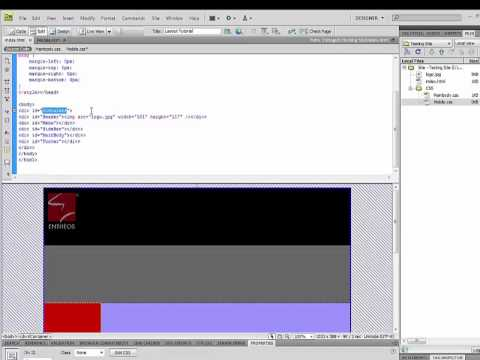 Learn how to create a responsive website with Dreamweaver using div tags and css