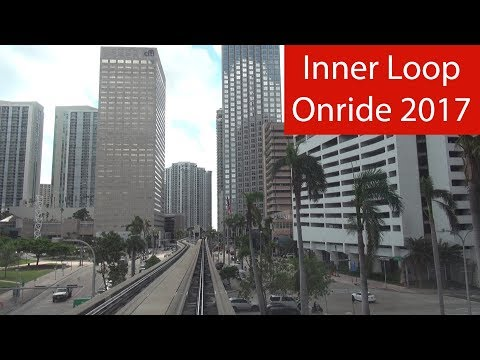 Miami-Dade Metro Mover - Onride 2017 (Full Downtown/Inner Loop) [POV | 50 fps]