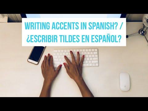 Writing Spanish Accent Marks On A Mac   Escribir Tildes/acentos En Una Mac
