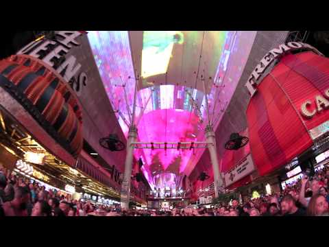 Chainsmokers Light Show at Fremont Street Experience