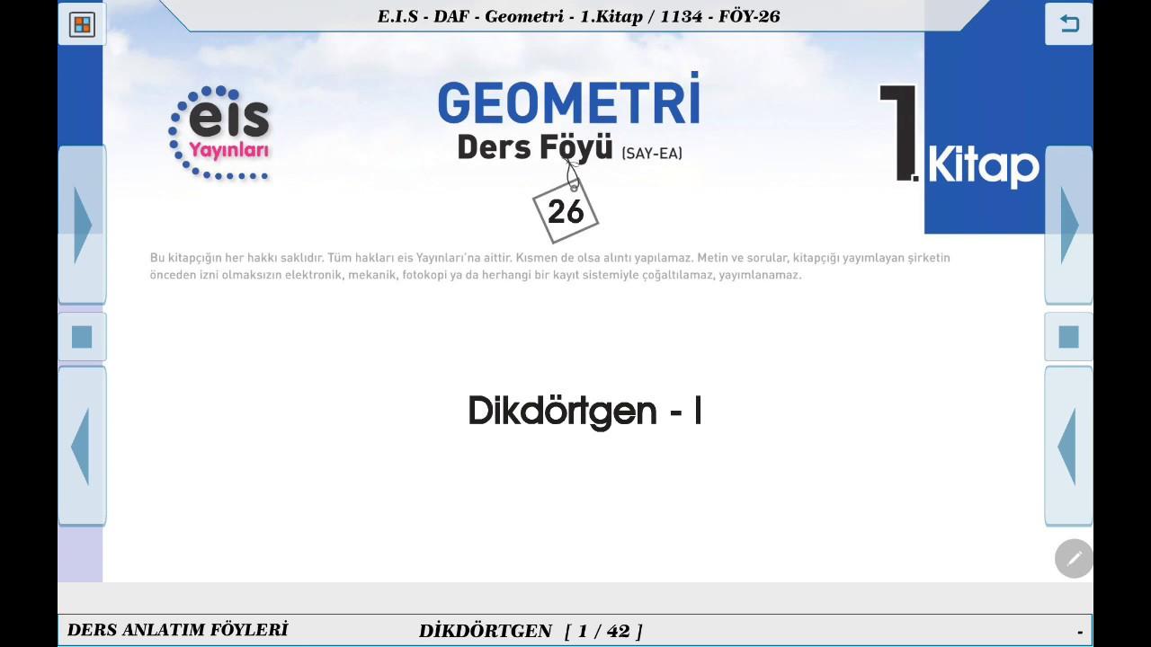 Geometri 1  - Dikdörtgen 1 📘