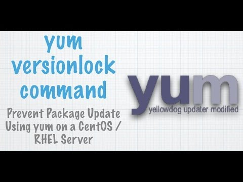 CentOS / RHEL: Yum Lock Package Version At a Particular