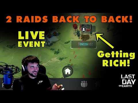 Last Day on Earth: TWO RAIDS Back to Back! (Live Event)