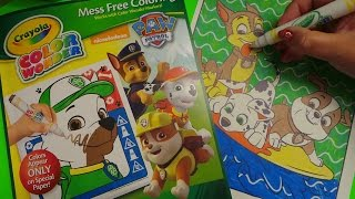 Crayola Color Wonder Mess Free Markers - Paw Patrol Rubble Art!