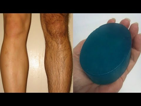 I Made this Hair Removal Soap At Home - Remove Facial Hair & Unwanted Hair Painlessly