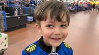 Zack and Paw Patrol Chase in Walmart store