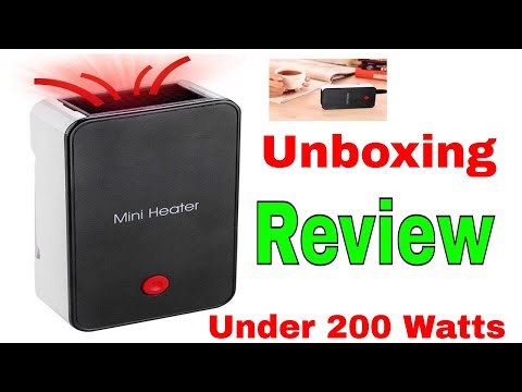 Energy-saving Heater Unbox & Review Mini Portable Low Watt S