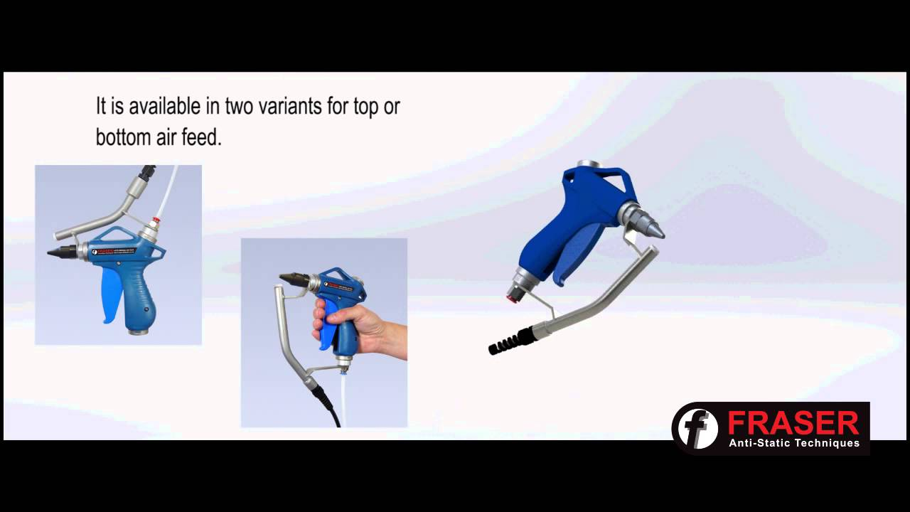 Ionised air gun for removing static electricity or dust and other contaminants youtube - Remove static energy ...
