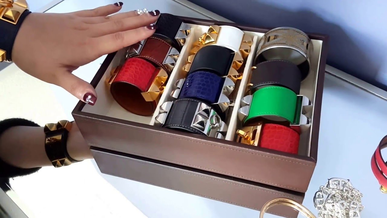 Review of my Hermes Collier de Chien Bracelet Collection - YouTube 2100e60b1bc
