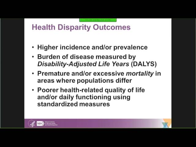 Eliseo Perez-Stable: Reducing Disparities in Health Outcomes: The NIMHD Agenda on Equity