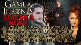 Lena HATED this Scene, Drogon is Jealous, Show/Book Ending Same: Game of Thrones Season 8 News