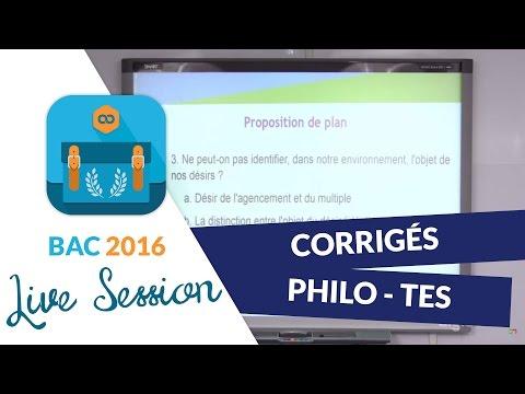 Bac 2016 : Corrigés de Philo - Terminales ES