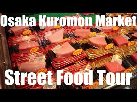Osaka Kuromon Market Street Food Tour!