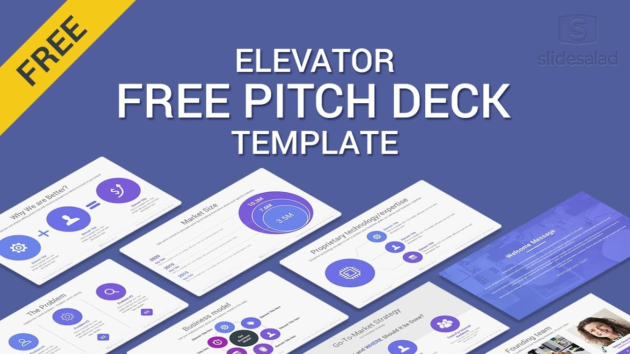 elevator free pitch deck powerpoint template of 2019 2018. Black Bedroom Furniture Sets. Home Design Ideas