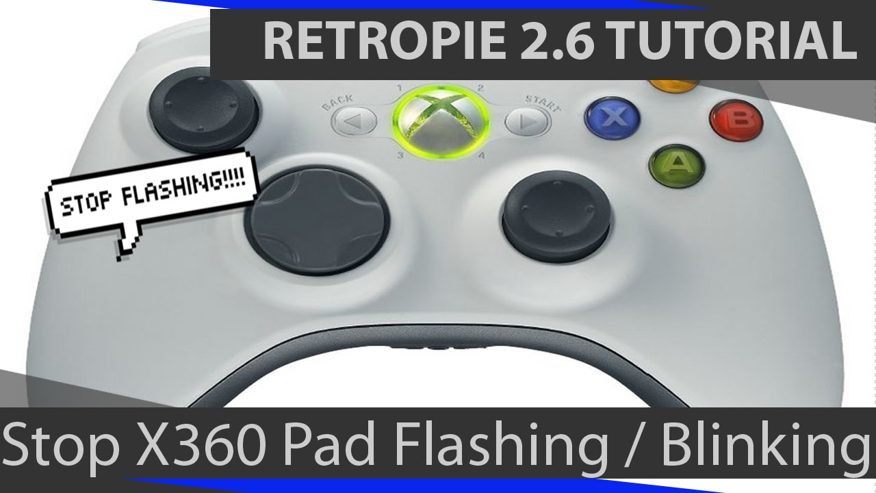 RetroPie 2.6: Stop Flashing Blinking Xbox 360 controller light - YouTube
