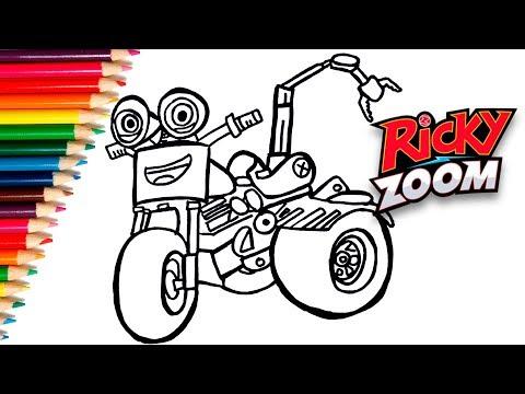 How To Draw Dj The Ricky Zoom Cartoon Como Desenhar Dj