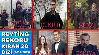 2019'DA REYTİNG REKORU KIRAN 20 DİZİ (En Çok İzlenen Diziler)