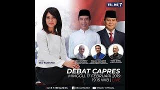 Live Streaming Debat Capres Minggu 17 Februari 2019