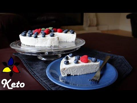 No Bake Keto Cheesecake - light and creamy (sugar free, gluten free, vegetarian)