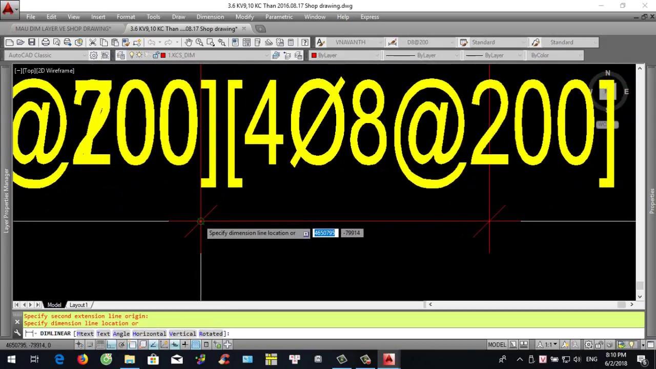 SHOP DRAWING THÉP DẦM - Hướng dẫn thiếp lập, lấy thông số Dim và layer qua lại giữa các file