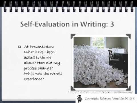 Self-Evaluation: Writing - Youtube