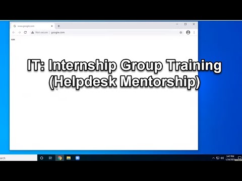 IT: Internship Group Training (Helpdesk Mentorship)