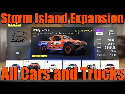 Forza Horizon 2   Storm Island Expansion   All Cars and Trucks